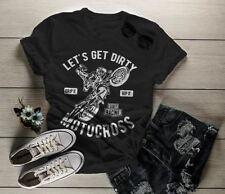 Women's Funny Motocross T-Shirt Let's Get Dirty Dirt Bike Shirt Tee