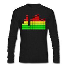 T-shirt uomo manica lunga Digital Equalizer equalizzatore mixer regalo fonico