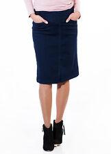 NEW - QueenBee® - Maternity Denim Skirt in Dark Navy - Pregnancy Clothes