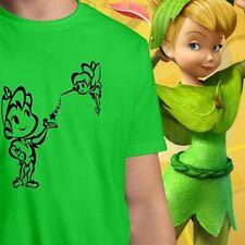 Cute Cartoon Disney Character Fairies & Peter Pan Men / Unisex Crew Neck T-Shirt