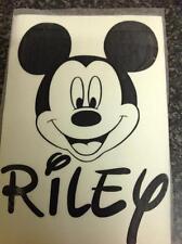 Personalizzata Mickey Mouse Auto Paraurti Finestra Decalcomania Corpo Adesivo Muro Porta