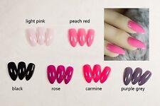 False Nails - Full Cover 3d Fake Stiletto Medium Length Plain coloured nails