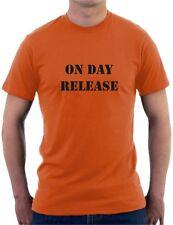 ON DAY RELEASE Mens T-Shirt Orange is the New Black Funny Joke Slogan Prison