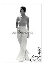 VINTAGE PANTALONE Sewing Pattern Beach Pigiama Pantaloni 1930 30 S 1930 S CHANEL