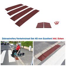 Rampen Set 45 II Fußgänger-, Zebrastreifenübergang Verkehrsinsel Einfahrt Garage