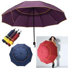 Men Women Folding Rain Umbrella Anti-UV Windproof Big Oversized 10 Skeletons