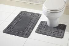 2 Piece Bath Mat & Pedestal Set, Non Slip Bathroom Set by Olivia Rocco