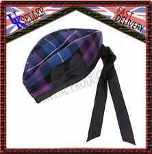 Pride of TARTAN ÉCOSSAIS 100% laine Glengarry Chapeau écossais Vêtement Highland