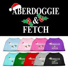 Aberdoggie Christmas Screen Print Dog Cat Pet Puppy Christmas Shirt