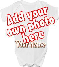 Propia Foto Imagen Personalizada Bebé Chaleco / Gro / Body - * Gran Regalo & llamada *