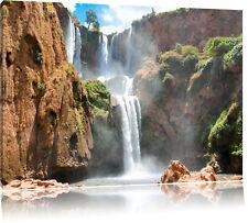 wunderschöner Wasserfall Leinwandbild Wanddeko Kunstdruck
