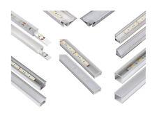 (14,9 €/M) LED PROFILO ALLUMINIO ANODIZZATI-per luce nastro Stripe Strisce rotaia