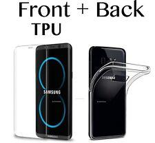 Gel TPU claro frente y atrás funda para Samsung Galaxy S6 S7 Edge S8 +