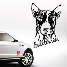 AWILPORT Auto Aufkleber BULLTERRIER Portrait Hund Hunde WILSIGNS Siviwonder