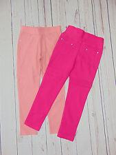 Mädchen-Treggings-Leggings-Hosen in 2Farben mit Strass Steinchen Gr. 86-170
