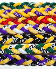 "20"" Titanium Tornado Baseball Softball Necklace Yellow"
