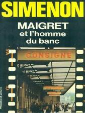 MAIGRET ET L'HOMME DU BANC  SIMENON PRESSES DE LA CITE' 1983 COLLECTION MAIGRET