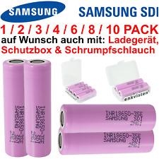 Samsung INR18650-35E Akku - 3500mAh 3.7V Zelle - Menge 1/2/3/4/6/10 Stück Li-Ion