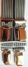 Hosenträger, 160-170-180-190-200cm lang, grau, 4er/H Clipträger, ca.25mm breit