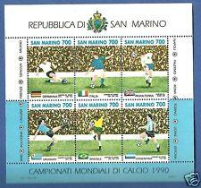 SAN MARINO FOGLIETTO MONDIALI CALCIO ITALIA  '90 VAL. 6