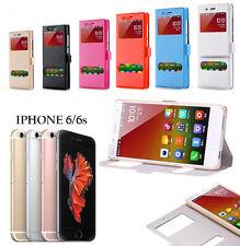 CUSTODIA MAGNETICA COVER FLIP LIBRO VIEW SMARTPHONE CEL APPLE IPHONE 6 / 6G / 6S