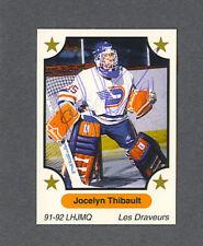 Jocelyn Thibault signed 1991 Minor League hockey card