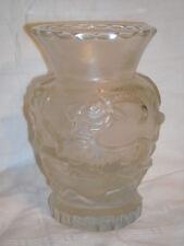 Art Deco figürliche Glasvase m. Steinbock Böhmen Schlevogt Gablonz ~ 1920
