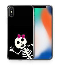Fabulous Funky Fantastic Joyful Jolly Happy Skull Girl Cool Soft Gel Phone Case