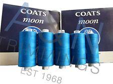 Coats Moon TKT120 Confezione da 10*1000 Yard Bobine COLORI Filata Poliestere Filo da Cucire