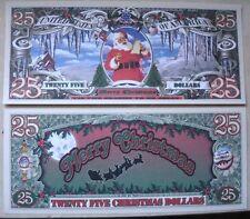 Biglietto SEGNALIBRO banconota DOLLARO Christmas NATALE Feste Segnaposto Tavola