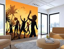 3D Palme Meerblick Fototapeten Wandbild Fototapete Bild Tapete Familie Kinder