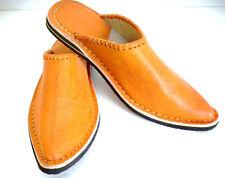 Babouche Marocaine cuir gravé cousues chaussure mule chausson sandale