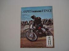 advertising Pubblicità 1972 MOTO ASPES NAVAHO 50