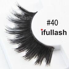 #40  6 or 12 pairs of ifullash 100% human hair Eyelashes- BLACK