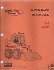 Bobcat 800 Skid Steer Loader Operator's Manual