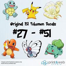 Pokemon Go Decal Sticker Bedroom Vinyl Kids Original Generation 151 #27 - #51