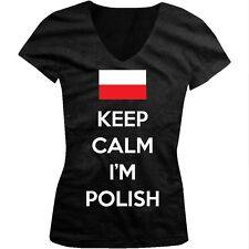 Keep Calm Im Polish Pride Poland Rzeczpospolita Polska Juniors V-neck T-shirt