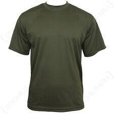 Quickdry Verde Oliva camiseta - Todas las tallas - poli- Top MILITARY ROPA -