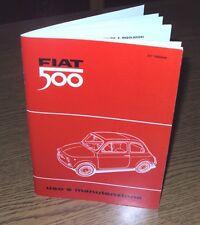 Manuale uso e manutenzione per Fiat 500 F (tipo 110 F) ... Owner's manual-