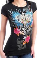 Black Wings/Rose/Cherub Victory Cap Sleeve Tee S/M/L/XL