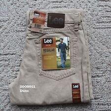 NWT LEE MEN'S REGULAR FIT Classic Straight Leg Jeans Denim 2008921 Dune All Size