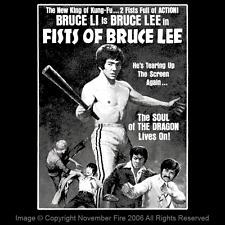 Fists of Bruce Lee 1978 Bruce Li Hong Kong Kung Fu Action Film Art Shirt NFT222