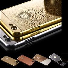 Luxus Aluminium Metall Spiegel Bumper Alu Case Back Cover Tasche Schutz Hülle