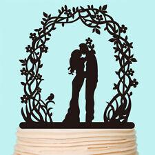 Flora Wreath Wedding Cake Topper Bride and Groom Rustic Romantic Decorations