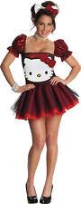 Hello Kitty  Glitter Kostüm mit Haarreif Karneval Fasching      SONDERPREIS