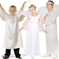 BOYS GIRLS CHILD NATIVITY PLAY ANGEL WHITE WINGS CHRISTMAS FANCY DRESS COSTUME