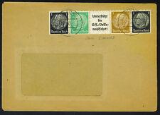 GERMANY 1930's HINDENBURG SETENANT COIL STRIP TIED LUB