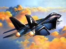 Grumman F-14 Tomcat Black Air Forces Art War Military Giant Wall Print POSTER