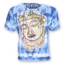 COLORATA sure 70er Retro T-shirt Buddha nel Hippie Batik Look