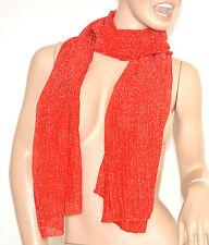 SCIARPA donna ROSSA BRILLANTINATA foulard scaldacollo pashmina scialle шарф 5